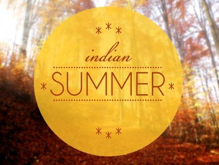 Indain summer Autumn creative conceptual illustration