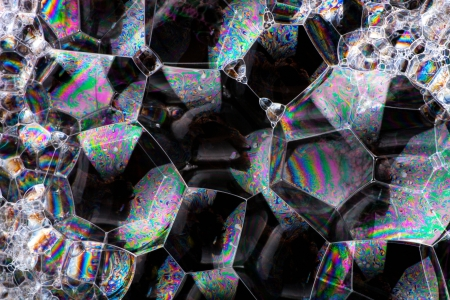 Soap bubbles abstract colorful macro structure background