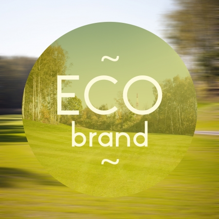 Eco brand poster, illustration of eco-friendly business
