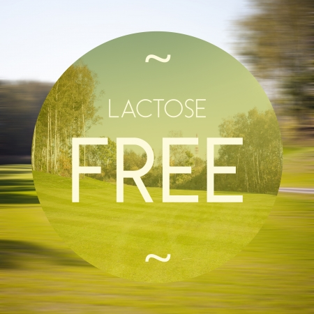 lactose: Lactose free poster, illustration of eco-friendly