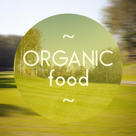 productos naturales: Cartel de Los alimentos org�nicos, la ilustraci�n de los productos naturales