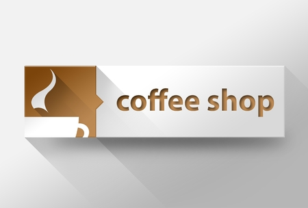 3d Coffee shop concept flat design illustration illustration