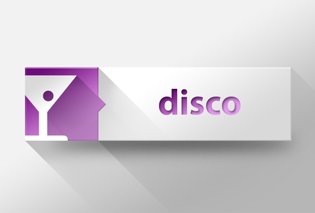3d Disco concept flat design illustration illustration