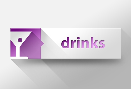 3d Drinks flat design illustration illustration