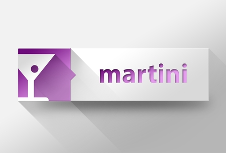 3d Martini flat design illustration illustration