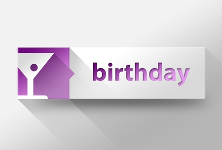 3d Birthday flat design illustration illustration