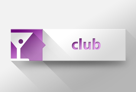 3d Club concept flat design illustration illustration