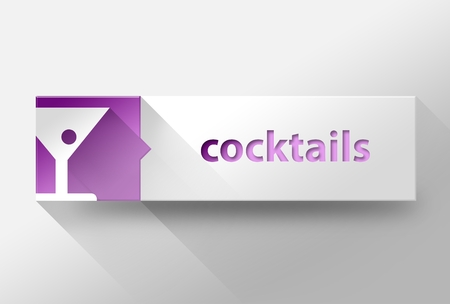 3d Cocktails flat design illustration illustration