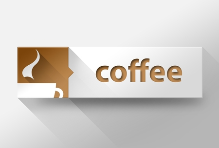 3d Coffee concept flat design illustration illustration