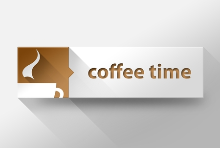 3d Coffee time flat design illustration illustration