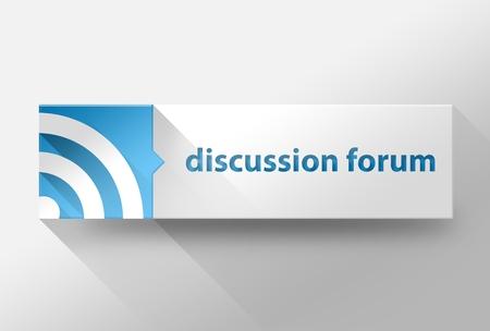 discussion forum: 3d Discussion forum flat design illustration Stock Photo