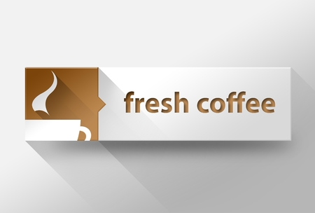 3d Fresh coffee concept flat design illustration illustration