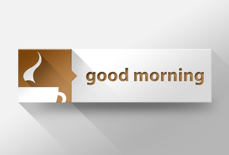 3d Good morning with coffee flat design illustration illustration