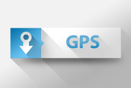 localization: 3d GPS pin icon flat design illustration
