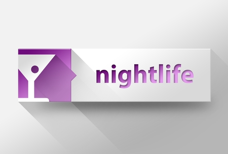 3d Nightlife concept flat design illustration illustration