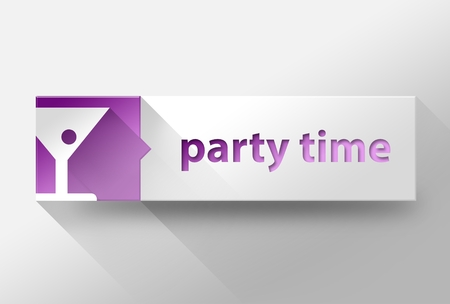 3d Party time flat design illustration illustration