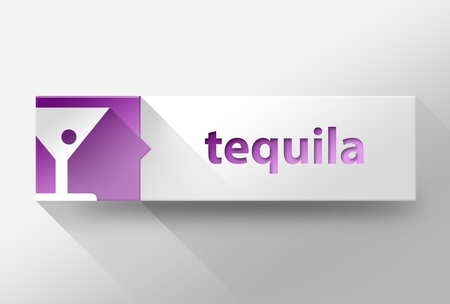 3d Tequila flat design illustration illustration