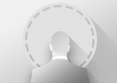 wheel of fortune: Businessman and wheel of fortune, 3d illustration flat design