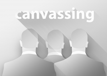 canvass: Canvassing business, 3d illustration flat design Stock Photo