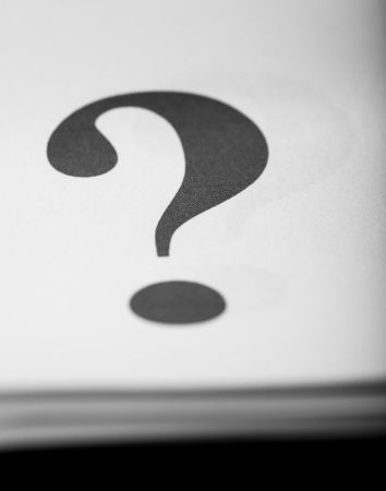 Close up too question mark on paper background, typography Stock Photo - 24810797