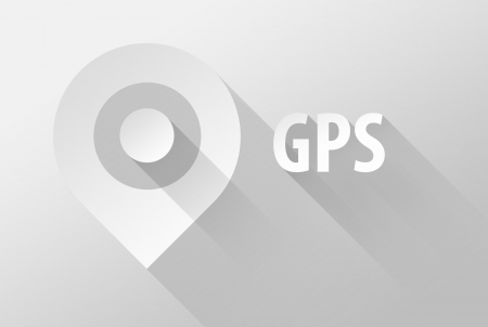 localization: GPS tag location pin icon and widget, 3d illustration flat design