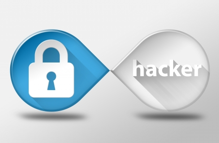 Hacker 3d illustration flat design