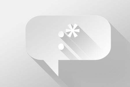 widget: Kiss emoticon in bubble speech widget and icon, 3d illustration flat design Stock Photo