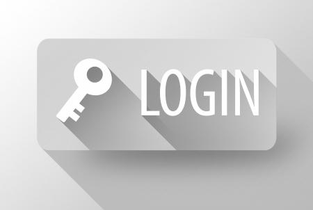 ログインのウィジェットやアイコン、3 d イラストレーション フラットなデザイン