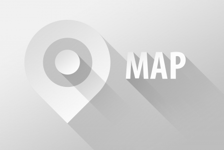 localization: Map tag location pin icon and widget, 3d illustration flat design