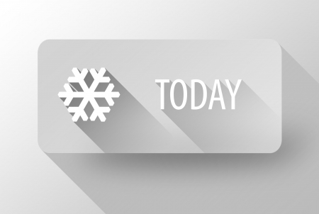 Today snowy, weather widget and icon flat design photo