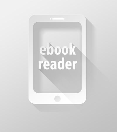widget: Smartphone or Tablet E-book reader icon and widget 3d illustration flat design