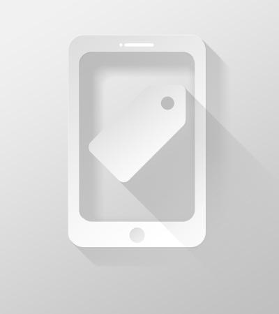 widget: Smartphone or Tablet icon and widget 3d illustration flat design Stock Photo