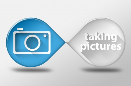 taking picture: Taking picture camera concept 3d illustration flat design