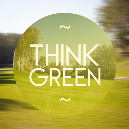 eco house: Think green poster