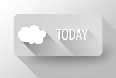 Today cloudy weather widget and icon flat design photo