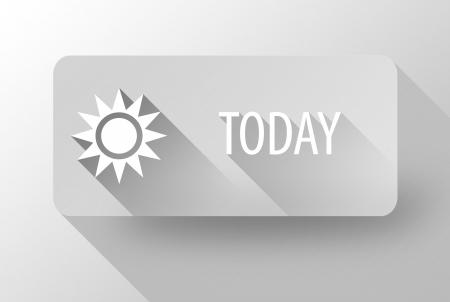 widget: Today sunny weather widget and icon flat design Stock Photo