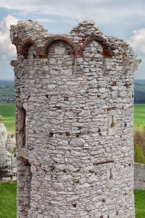 the citadel: Medieval stone castle ruins, architectural illustration Stock Photo