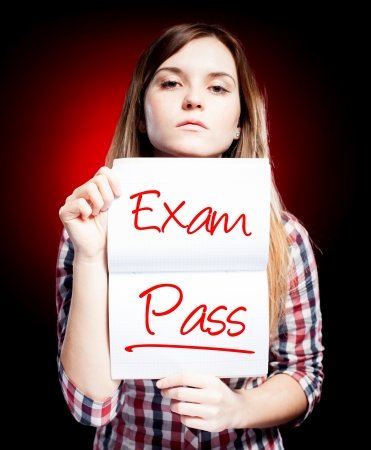 Passed test or exam and proud woman