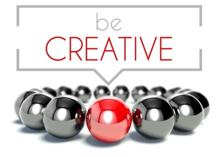 Be creative business unique concept