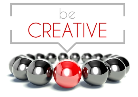Be creative business unique concept