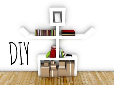 Do it yourself concept, interior design idea of modern workspace Stock Photo