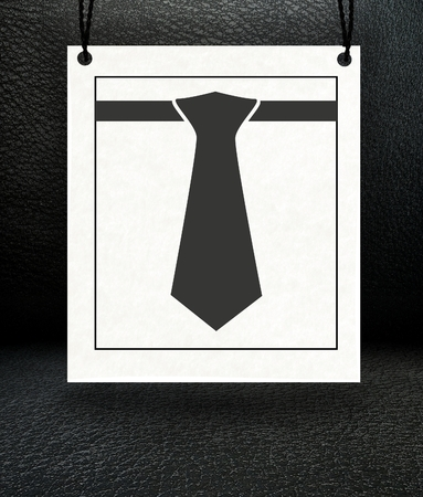 Minimalist elegance paper poster with conceptual suit tie photo