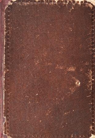 ampara: Cubierta de libro viejo textura, cuero y papel de la vendimia