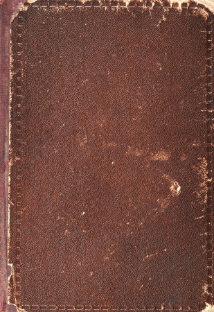 Old book cover texture, vintage leather and paper Stock Photo