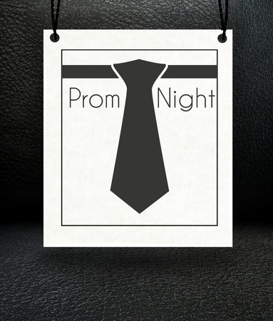 Prom Night announcement poster, suit and tie photo