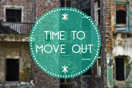 new beginning: Time to move out new beginning concept Stock Photo