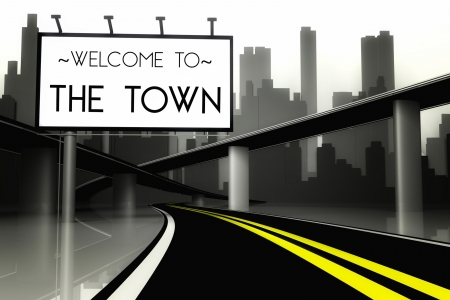 Welcome to the town conceptual image photo