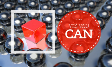yes you can: Yes you can business unique concept Stock Photo