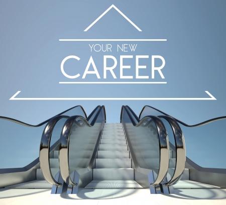 Nieuwe carrière concept met trappen van succes Stockfoto