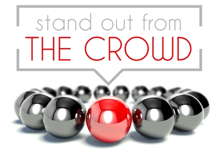 concept and ideas: Stand out from the crowd business unique concept